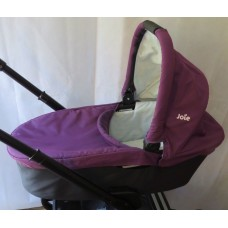 Joie Chrome Carrycot Damson Purple Complete With Rain Cover FREE SHIPPING