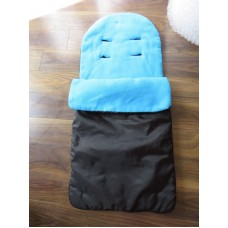 Black Universal Blue Fleece Lined Footmuff FREE SHIPPING