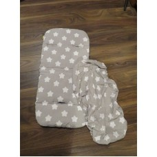Pushchair Seat Liner And Pram Sheet Grey Stars Matches My Babiie FREE SHIPPING