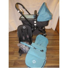 Bugaboo Cameleon 3 Petrol Colour Pram Pushchair With Accessories