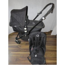 Bugaboo Cameleon 3 True Black Pram Pushchair All Black Frame