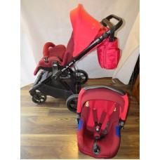 Jane Muum Travel System Red Includes Strata Car Seat