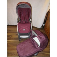 Mamas And Papas Armadillo Flip XT Pushchair Mulberry & Matching Carrycot Pram