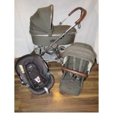 Mamas And Papas Urbo 2 Khaki Tweed Travel System