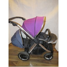 Babystyle Oyster Max 2 Double Pram Pushchair Grape/ Blue 2017 Model With Extras