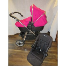 Silver Cross Pioneer Raspberry Pink Pram Pushchair Combination