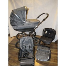 Silver Cross Sleepover Elegance Travel System Cadet Grey Stunning