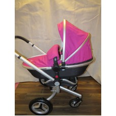 Silver Cross Surf 2 Pram Pushchair Set Raspberry Pink