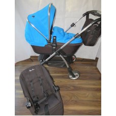 Silver Cross Wayfarer Pram Pushchair Bright Blue