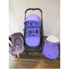 iCandy Strawberry 2 Travel System Prism Purple Bundle Pram Pushchair